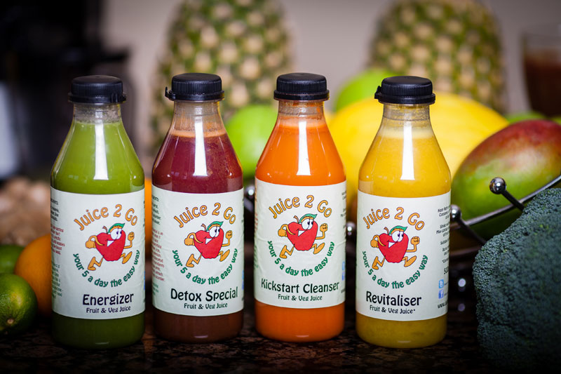 Juice 2 Go bottles